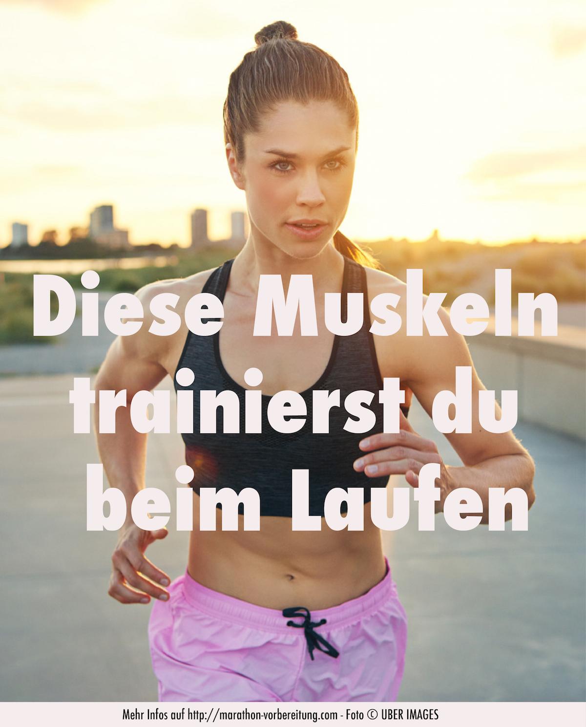Diese Muskeln trainierst du beim Laufen!